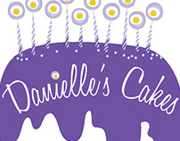 Danielle's Cakes Logo & Website Design