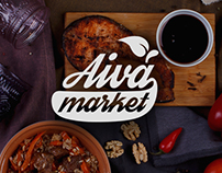 Aiva market - catering shop design