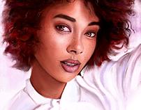 Portrait Study (with process )