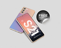 Galaxy S21 Smartphone Mockup