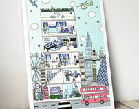 UCL halls of residence poster