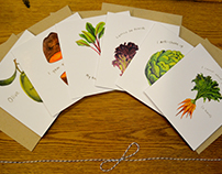 Veggie Pun Greeting Cards