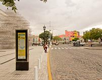 Bus turístico CABA - Mapa en parada de colectivo