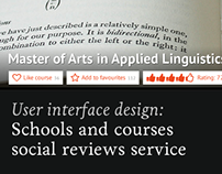 Schools and courses social reviews service