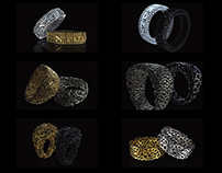 TESSELLATION 3D PRINTED RING SERIES