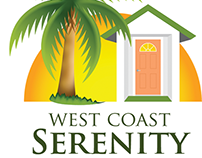 Logo and business card for West Coast Serenity House