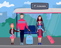 Illustrations for Animated Video | Flybussen