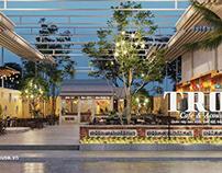 Thiết kế quán cà phê sân vườn 14x45m tại Bình Thuận