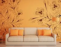 Wallpaper ornament design