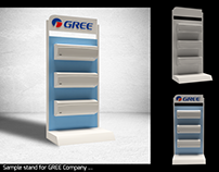 D&D sample stand for GREE Company