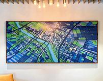 Austin Map Giclee Print