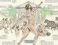 Juegos Olímpicos Antigüos: infografía