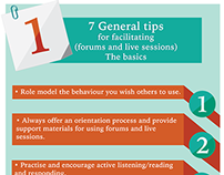 Facilitation tips infographic