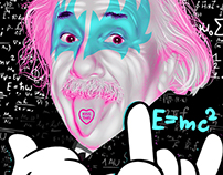 Kiss This Einstein (vector artwork)