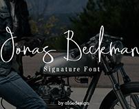 Jonas Beckman - Signature Font