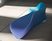 One wave bench