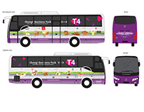 Bus Wrap: Changi T4 Shutter Bus