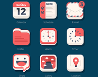 FREEBIES - 21 Flat iOs icon Set