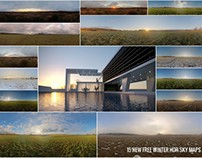 15 NEW FREE WINTER HDR SKY MAPS 4k