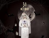 Ghost Walk – Halloween Free PSD Flyer Template
