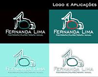 Logo e aplicação - cartão de visita e anúncio para FB