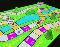 Survive the Seasons - Projection mapped board game