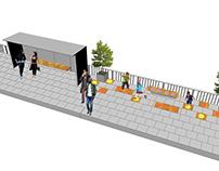 Projekt siłowni przystankowej - Rondo Kaponiera Poznań