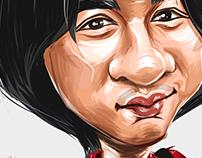 Wong Ka Kui Caricature | Ipad Pro Art
