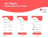 Air flights Mobile Application design