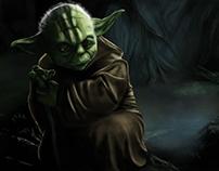 Yoda digital painting