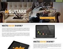Hguitare Web design (landingpages)