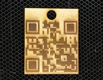 Lasercut QR Code