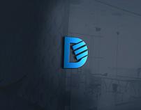 DE letter logo