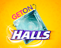 Get On Halls / logotipo ilustración