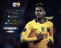 Barcelona & Alaves Match Card