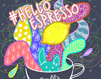 #helloespresso Campaign Illustration