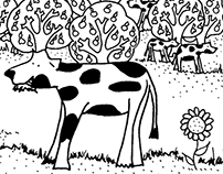 ©The Grandmother Quitéria's Farm-the colouring book II