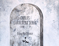 Self-portrait (tombstone design)