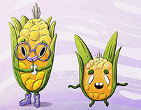 """Character and pattern design """"Crazy vegetables"""""""