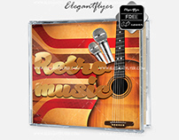 Retro Music – Free CD Cover PSD Template