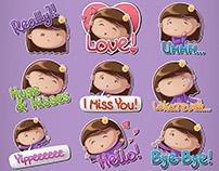 Little Flower Girl Stickers