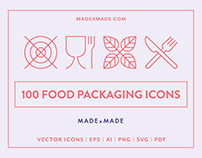 Line Icons – Food Packaging