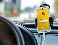 Phone in car PSD Mockup - Texi Rider Company