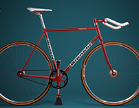 Bianchi Bicycle 3D Product Rendering