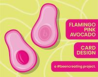 Pink Avocado Greetings Card - Design