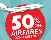 Online airfare sale