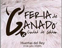 Cartel Feria de Ganado en Gáldar