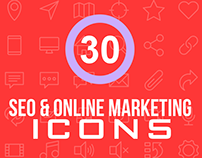 30+ Essential SEO & Online Marketing Icons