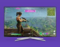 Fortnite Battle Royale PS4 Conceptual HUD Redesign