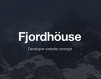 Fjordhöuse – developer website concept
